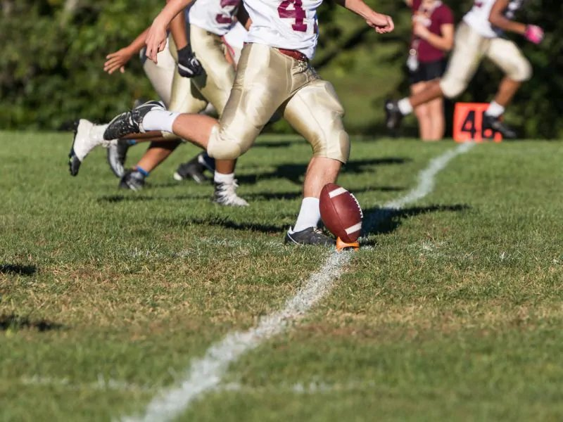 Even non-concussion head hits affect young football players' vision