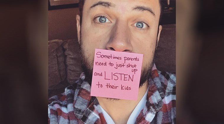 This single dad is winning hearts with his viral Post-it notes on parenting