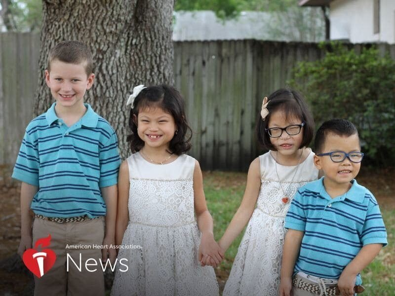 Family adopts three children with three different heart conditions