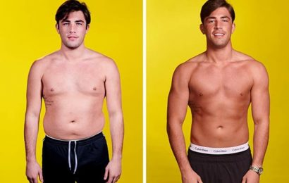 Jack Fincham weight loss: How Love Island star shed 2st and 42% body fat in 12 weeks