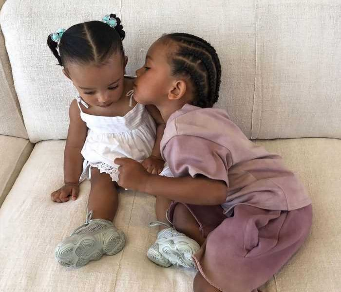 Kim Kardashian Shares Sweet Photo of Kids Saint & Chicago as They Await Arrival of Baby Brother