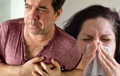 Heart attacks: Having a cold or flu could put you at risk of having a heart attack
