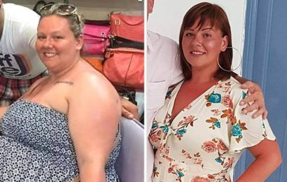 Woman who found watching TV 'unbearable' due to 'tyre of fat' around her neck sheds 5st