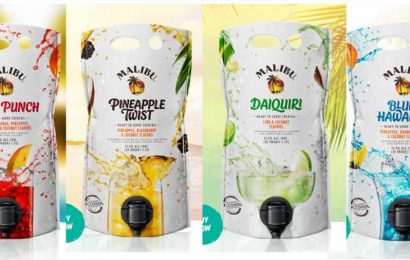 Malibu's 60-Ounce Cocktail Pouches Are Like Jumbo Boozy Juice Boxes