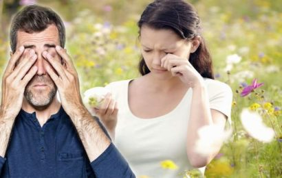 Pollen count: Eye specialists offer their top tips to protecting the eyes during hay fever