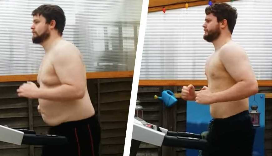 This Guy's Treadmill Time-Lapse Video Shows Him Losing 48 Lbs in 7 Months