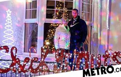 Dad decorates house with 'check your nuts' lights after surviving cancer