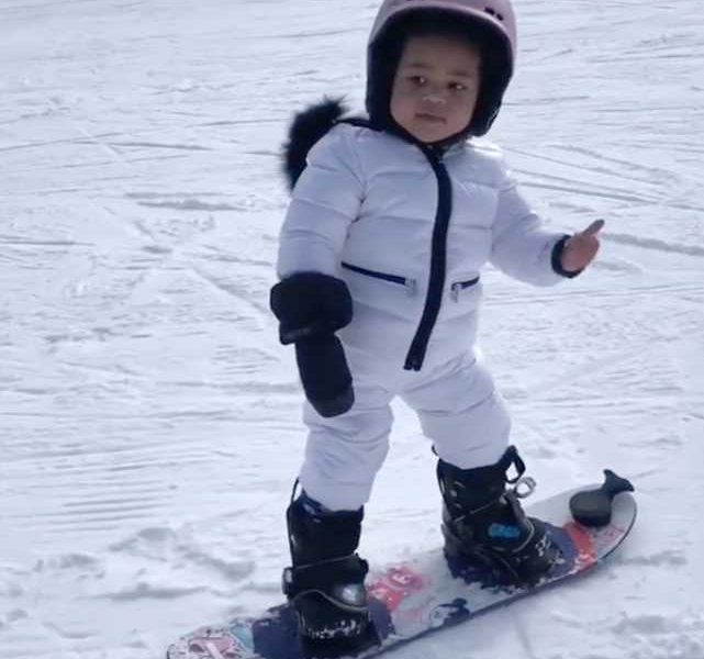 Snow Queen! Kylie Jenner Shares Adorable Videos of 22-Month-Old Daughter Stormi Snowboarding
