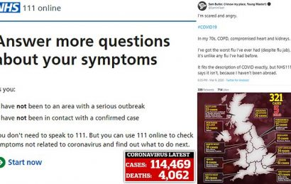 Coronavirus patients not being tested unless they've travelled abroad