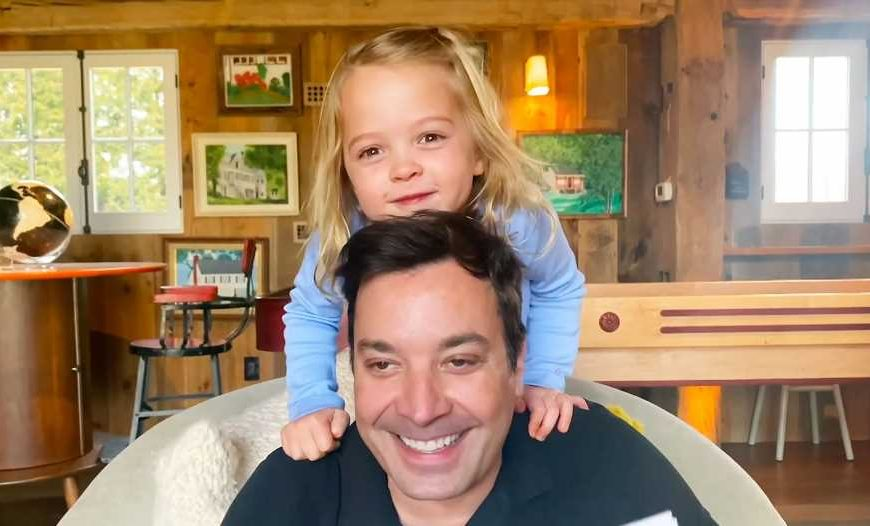 Watch Jimmy Fallon's Daughters Adorably Crash Monologue Amid Self-Quarantine