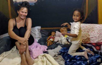 Family Fun Night! Chrissy Teigen Takes Daughter Luna Backyard Camping