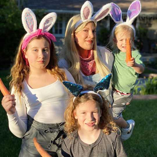 Why Tori Spelling Dressed Up as the Easter Bunny for Her Kids and Dean McDermott Didn't