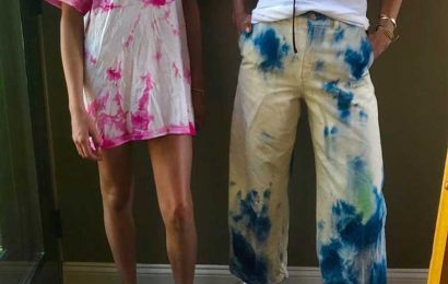 Tie Dye! Katie Holmes Shows Off Latest Art Project Alongside Daughter Suri While Social Distancing