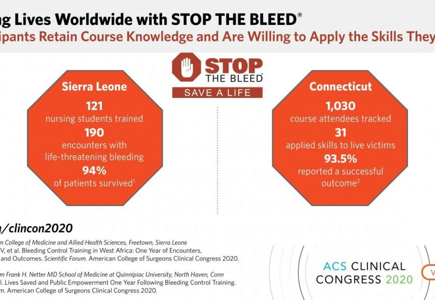 STOP THE BLEED training has saved lives from Sierra Leone to Connecticut