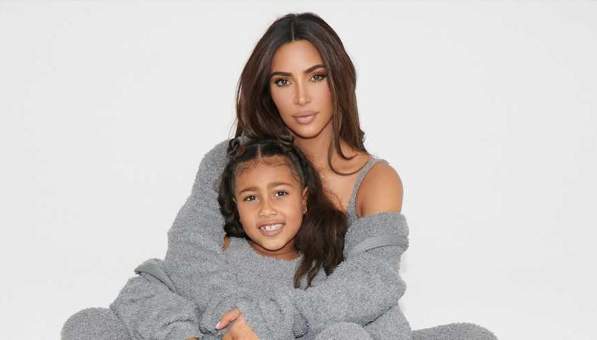 See Kim Kardashian's Daughter North Modeling With Mom in Skims Kids