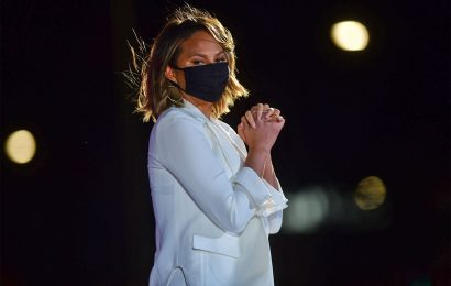 Chrissy Teigen Makes First Public Appearance Since Pregnancy Loss at Democratic Campaign Rally