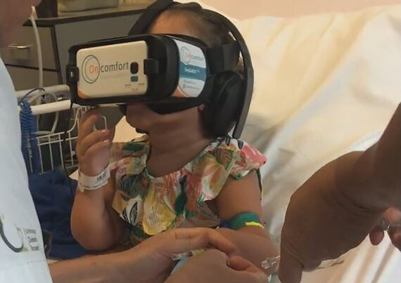 VR headsets and hypnosis may help distract patients undergoing medical procedures