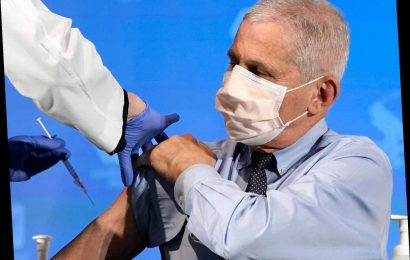 Dr. Anthony Fauci Publicly Receives the Moderna COVID-19 Vaccine on Tuesday