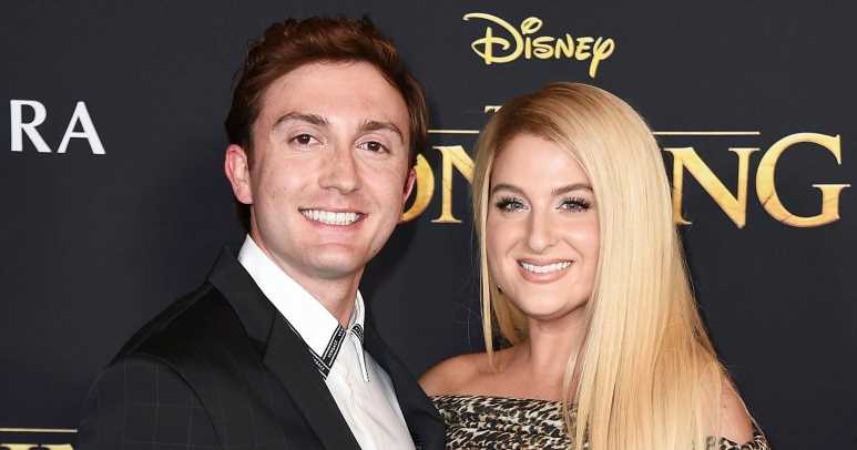 Pregnant Meghan Trainor Shows Bare Bump Celebrating Wedding Anniversary