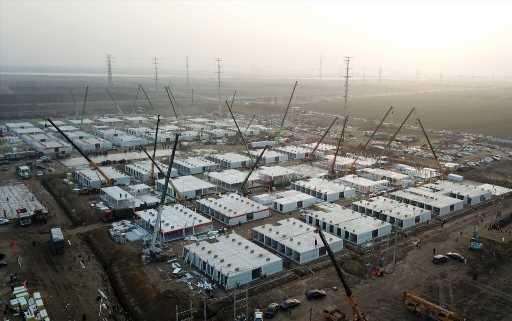 Chinese city rushes to build massive COVID-19 quarantine centre