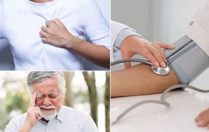 High blood pressure symptoms: Four of the most common warning signs of high blood pressure
